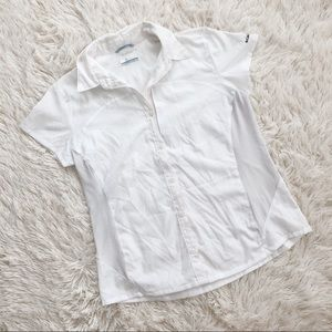 Columbia Omni Shade Short Sleeve White Top